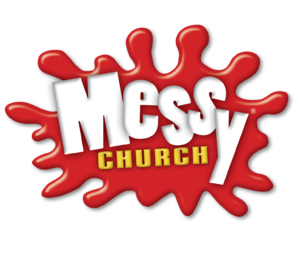 Official Messy Church logo - transparent background with dropshadow - 1535 pixels wide