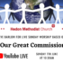 Online Sunday Worship 'Our Great Commission' – Sunday 7th June