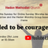 Online Sunday Worship 'Called to be courageous' – Sunday 21st June