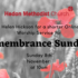 Remembrance Sunday Message – 8th November 2020