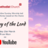 Online Sunday Worship 'The Glory of the Lord' – 21st March 2021
